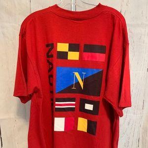 Nautica Men's T-Shirt Large Graphic Flag NWT